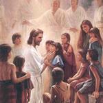 Jesus Christ with Children Mormon