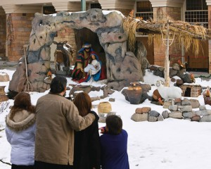 Mormon Family in Christmas