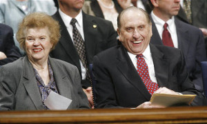 President Thomas S. Monson with his wife Frances.