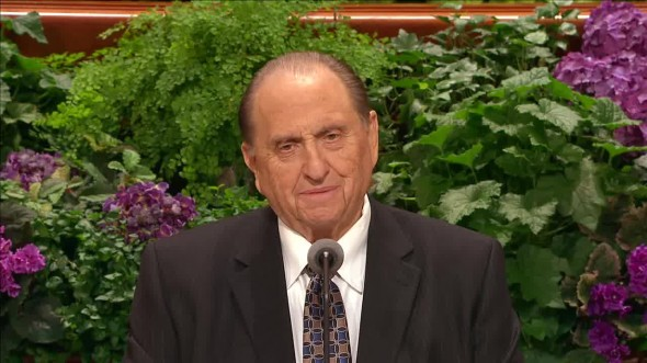 PRESIDENT MONSON…I WISH I COULD HAVE COME AND HELD YOU UP